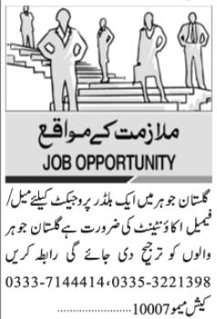 Accountant Job 2021 in Karachi Office