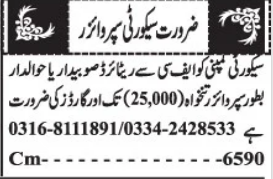 Security Staff Jobs 2021 in Quetta Balochistan