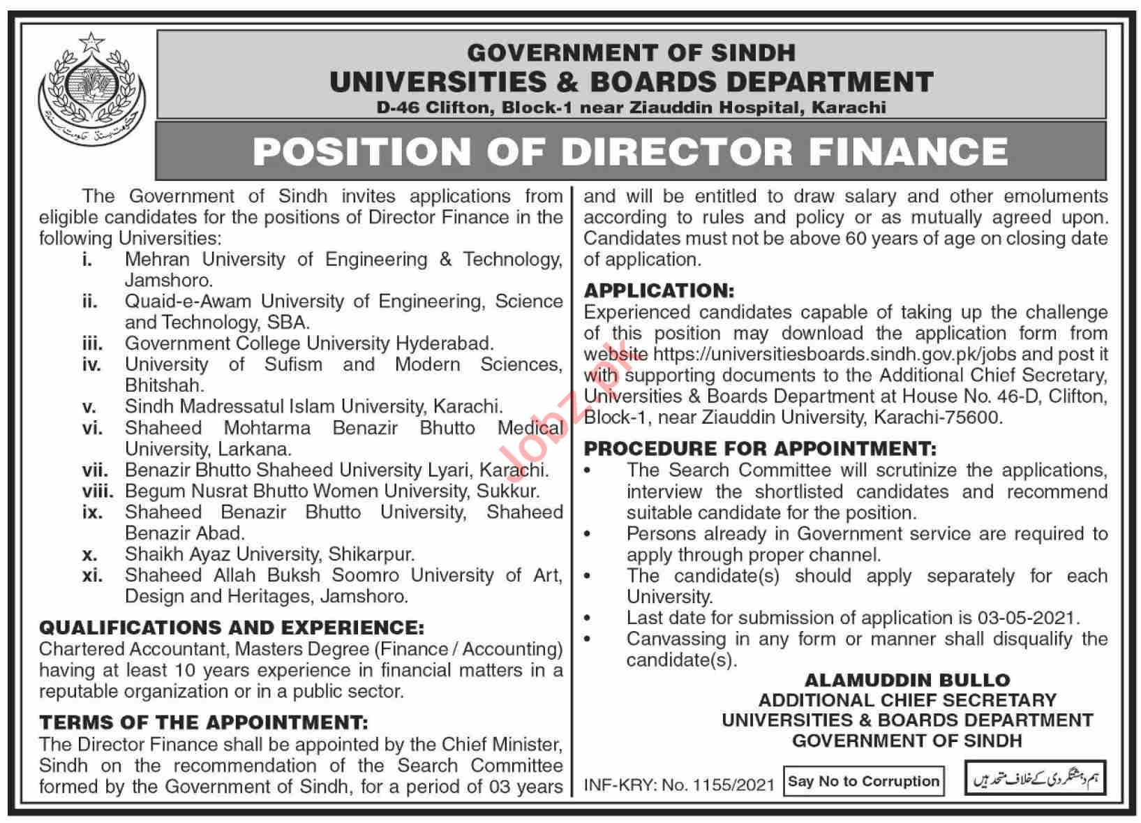 Universities & Boards Department Sindh Jobs 2021