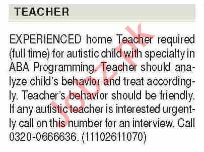 Home Teacher & ABA Programming Teacher Jobs 2021