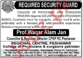 College of Physicians & Surgeons Pakistan CPSP Jobs 2021