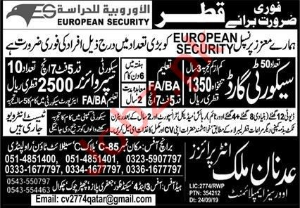 Security Guard & Security Supervisor Jobs 2021 in Qatar