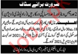 Infantry Officers Mess Rawalpindi Jobs 2021 for Mess Waiter