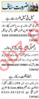 Accountant & Computer Operator Jobs 2021 in Lahore