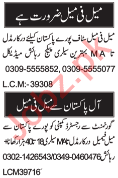 Receptionist & Data Entry Operator Jobs 2021 in Islamabad