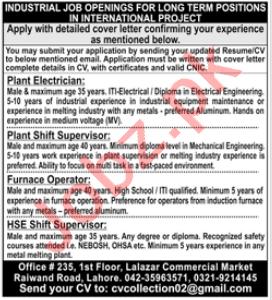 Plant Electrician & Plant Shift Supervisor Jobs 2021