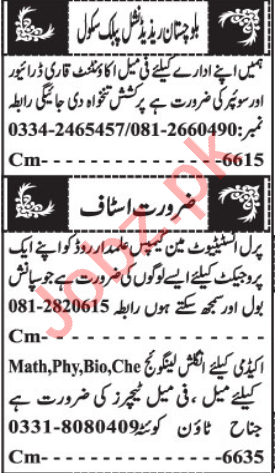 Female Accountant & Project Manager Jobs 2021 in Quetta