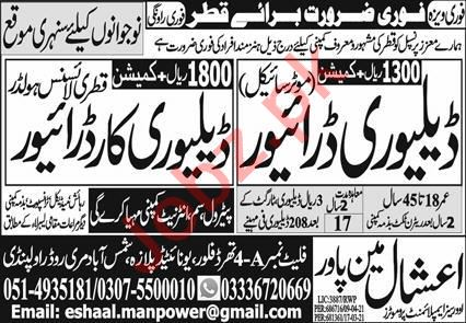 Delivery Driver & Delivery Car Driver Jobs 2021 in Qatar
