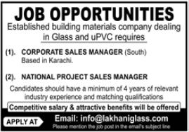 Lakhani Glass Company Jobs 2021 in Karachi