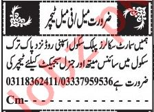Jang Sunday Classified Ads 11 April 2021 for Teaching Staff