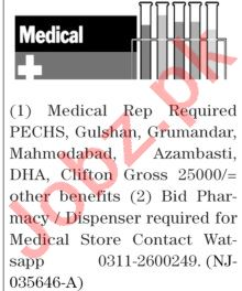 The News Sunday Classified Ads 11 April 2021 Medical Staff