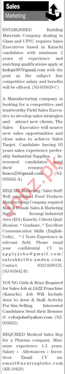 The News Sunday Classified Ads 11 April 2021 for Sales Staff