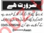 Nawaiwaqt Sunday Classified Ads 11 April 2021 Sales Staff