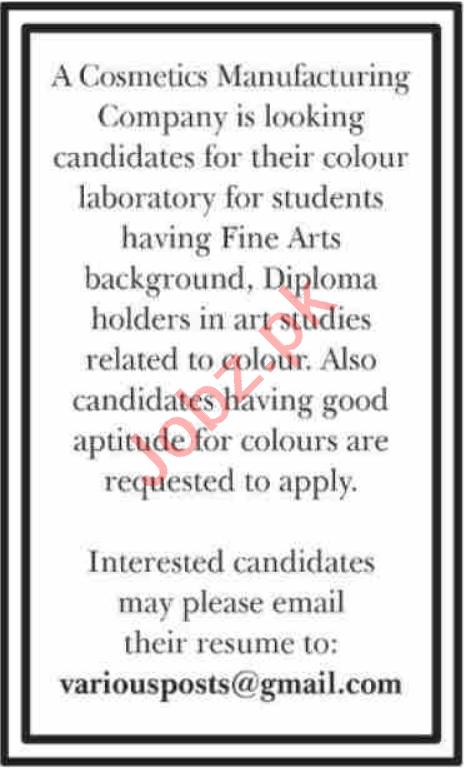 Colour Developer & Chemist Jobs 2021 in Karachi