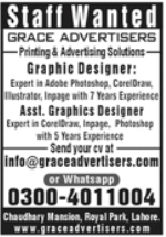 Grace Advertisers Jobs 2021 in Lahore