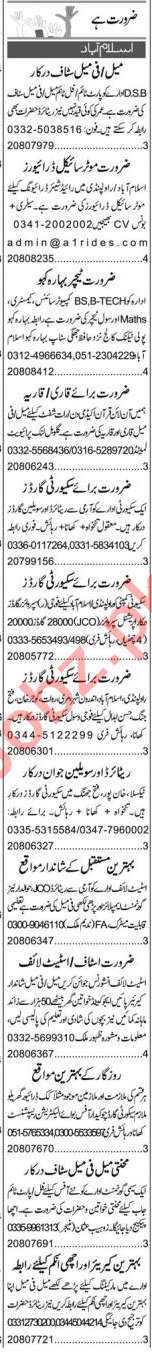 Purchase Assistant & Office Assistant Jobs 2021 in Islamabad