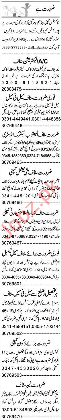 Order Booker & Computer Programmer Jobs 2021 in Peshawar
