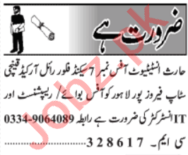 IT Instructor & Office Boy Jobs 2021 in Lahore