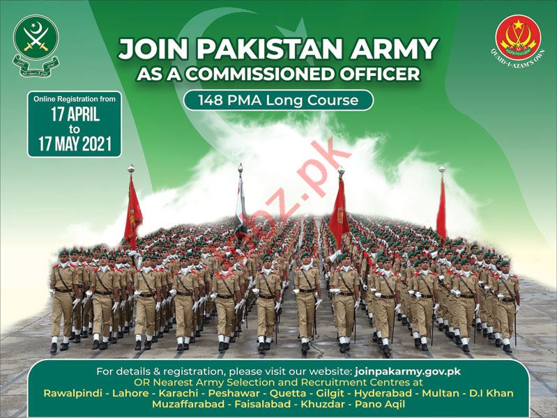 Join Pakistan Army as a Commissioned Officer 2021