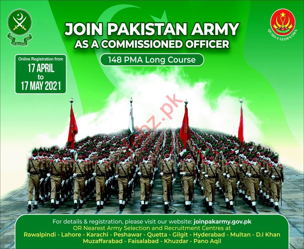 Pakistan Army Join as a PMA Long Course Commissioned Officer