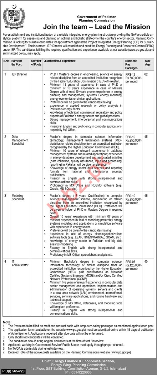 Integrated Energy Planning IEP Planning Commission Jobs 2021