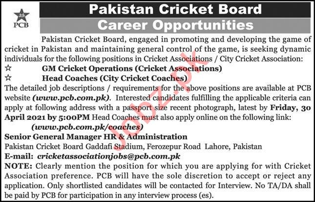 Senior General Manager HR & Administration Jobs 2021 in PCB