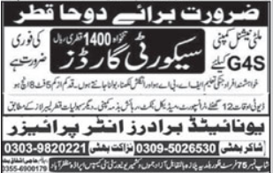 Security Guard Jobs 2021 in Qatar