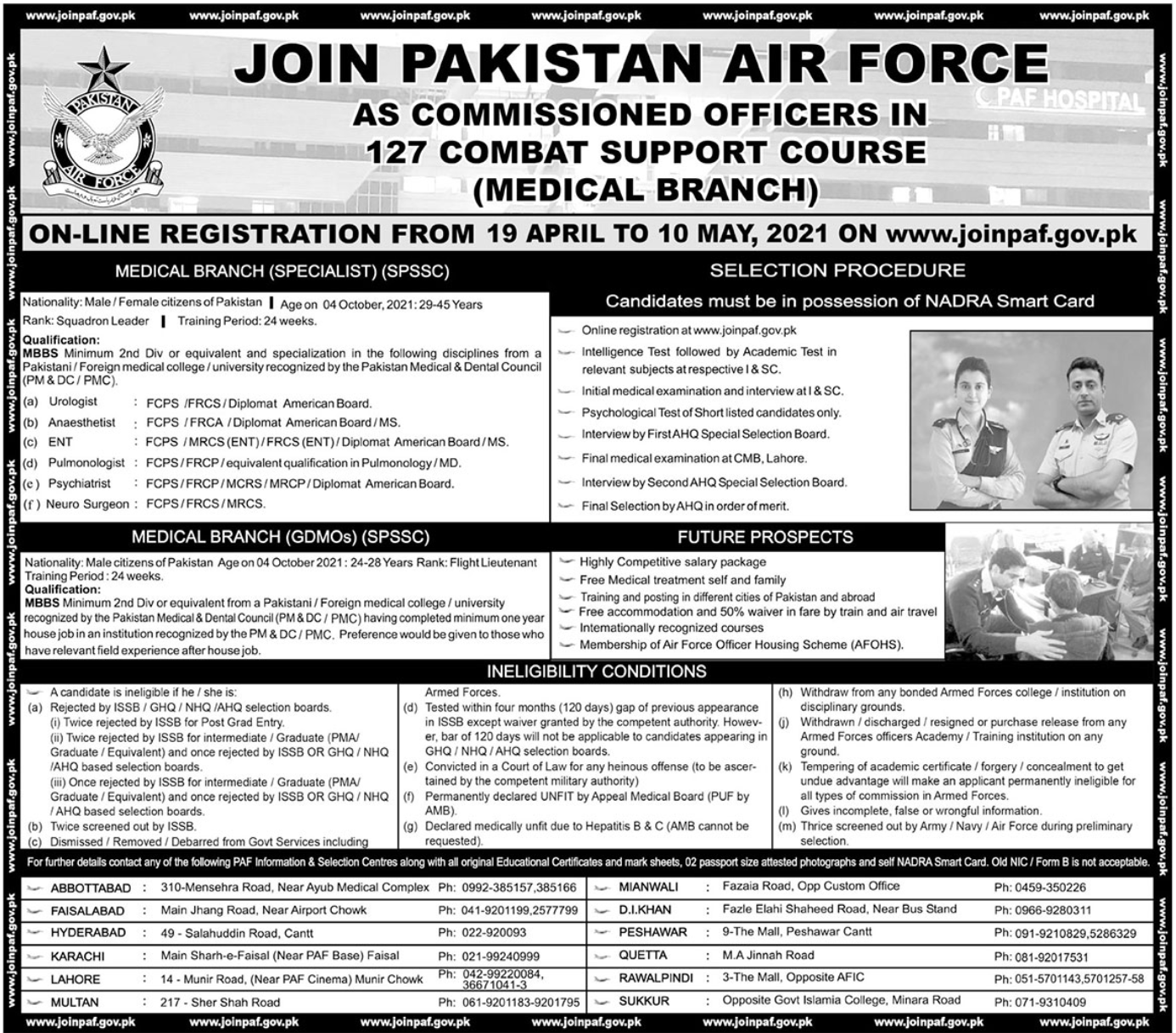 Join Pakistan Air Force PAF As Commissioned Officers
