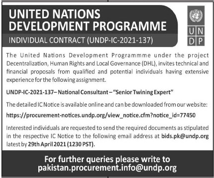 United Nations Development Programme UNDP Job 2021