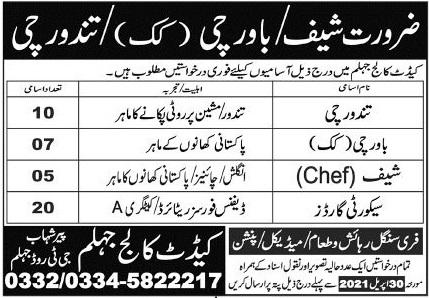 Pakistan Army Cadet College Jobs 2021 in Jhelum