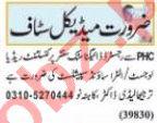 Nawaiwaqt Sunday Classified Ads 18 April 2021 Medical Staff