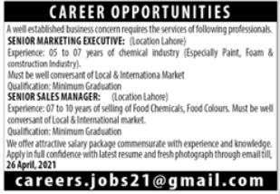Business Group Jobs 2021 in Lahore