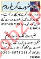 Nawaiwaqt Sunday Classified Ads 18 April 2021 House Staff