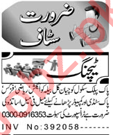 Aaj Sunday Classified Ads 18 April 2021 for Teaching Staff