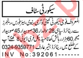 Aaj Sunday Classified Ads 18 April 2021 for Security Staff