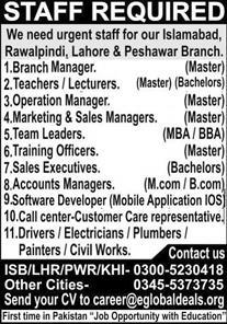Eglobaldeals Pvt Limited Jobs 2021 For Management Staff