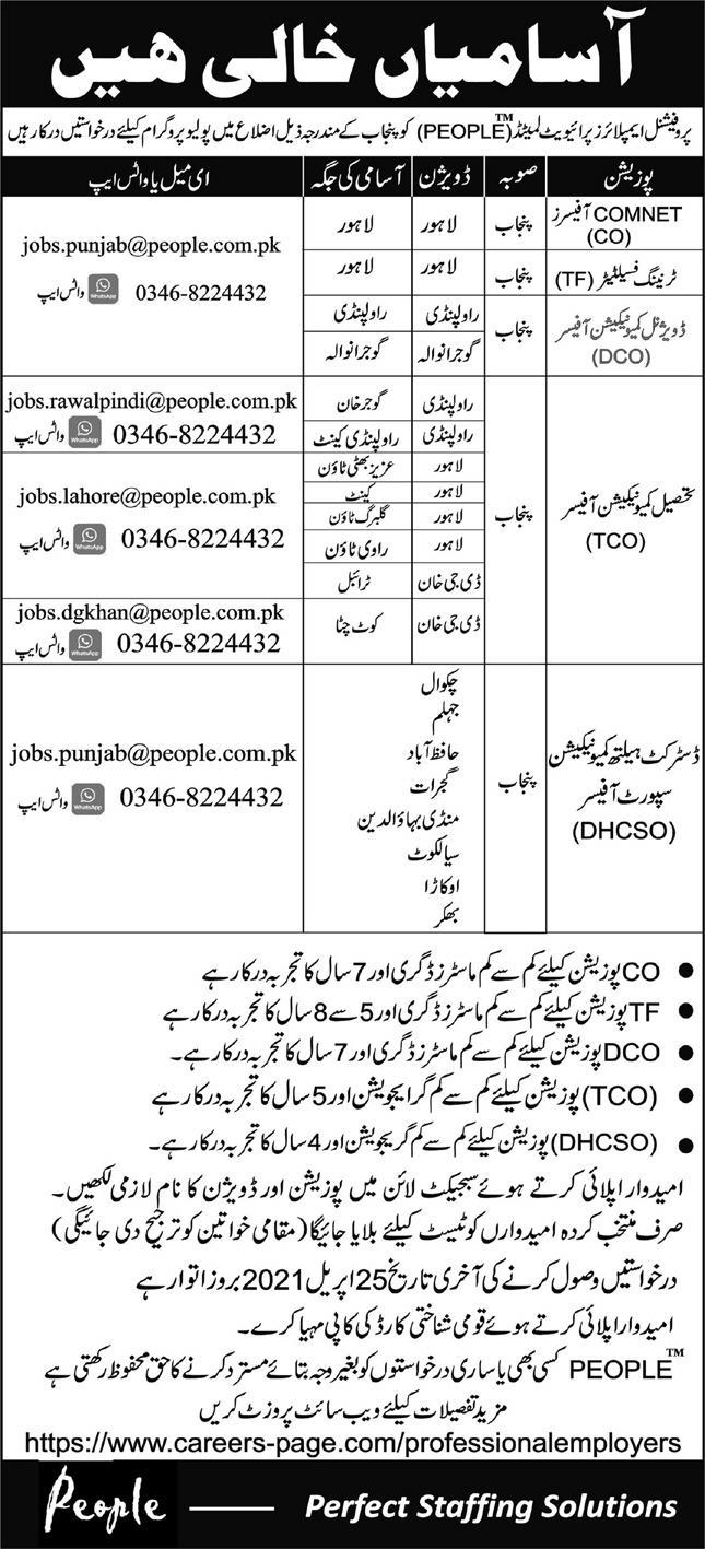 PEOPLE Professional Employers Private Limited Jobs 2021