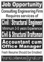 Consulting Engineering Firm Jobs 2021 in Lahore