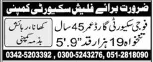 Flash Security Company Jobs 2021 in Islamabad
