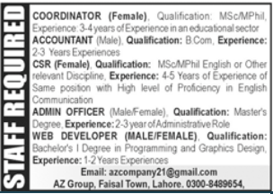 Private Company Jobs 2021 in Lahore