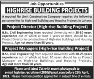 Project Director & Project Manager Jobs 2021