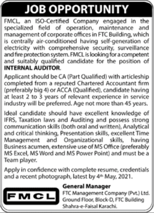 FTC Management Company Pvt Limited Job 2021 in Karachi