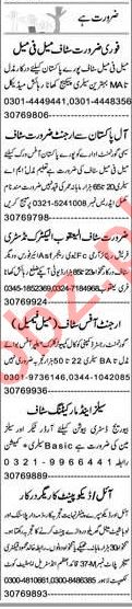 Express Sunday Lahore Classified Ads 18 April 2021