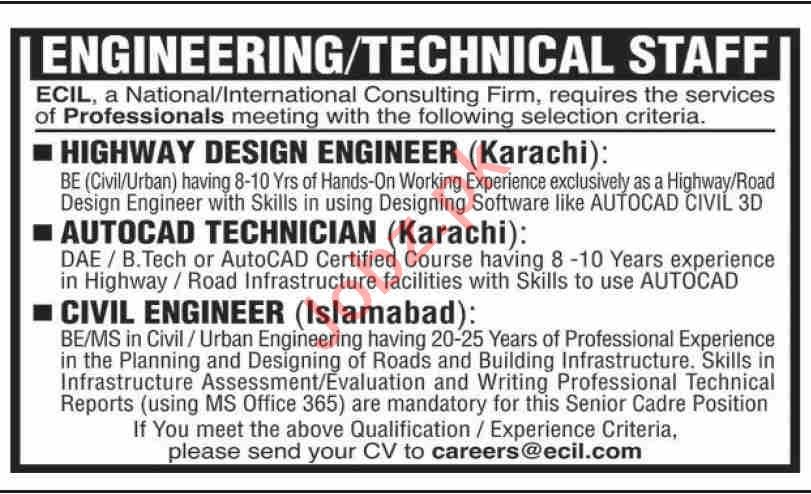 ECIL Consulting Services Jobs 2021 for Civil Engineer