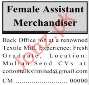 Female Assistant Merchandiser & Merchandiser Jobs 2021