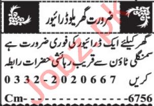 House Staff Jobs Open in Quetta 2021