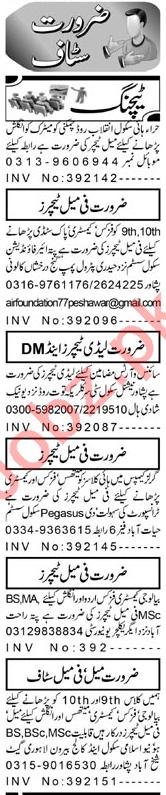 Subject Teacher & Coordinator Jobs 2021 in Peshawar