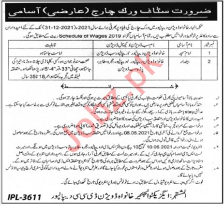 Khanwa Division DCC Depalpur Jobs 2021 for Baildar