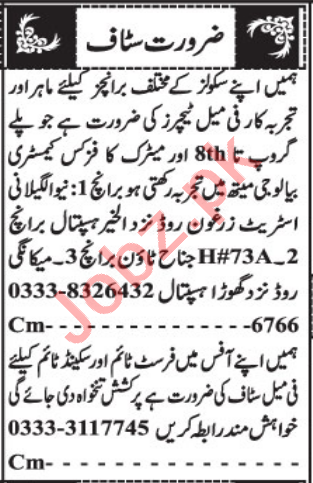 Female Teacher & Assistant Manager Jobs 2021 in Quetta