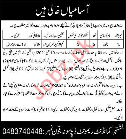 Pakistan Army Remount Depot Mona Jobs 2021